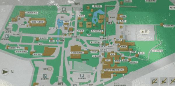 熱田神宮境内図