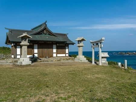 大島の沖ノ島遥拝所